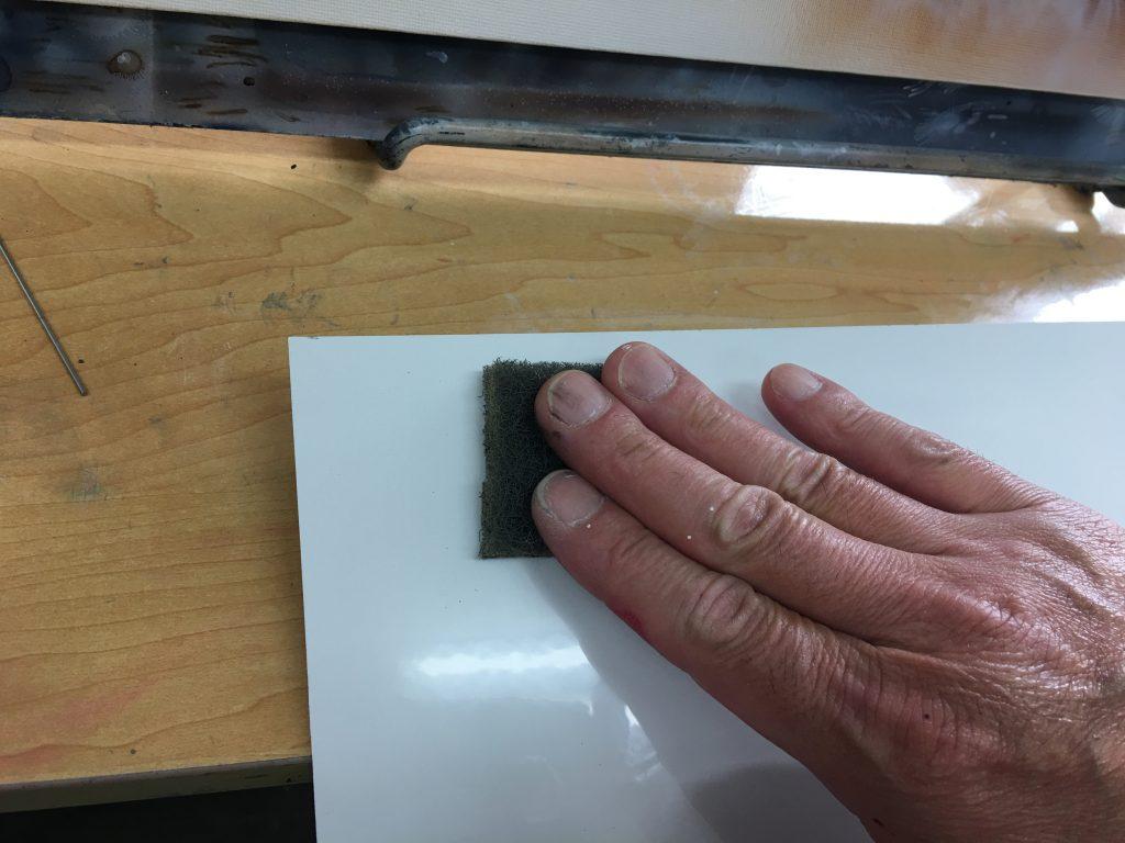 エアブラシ塗料の下地処理